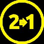 2 W 1